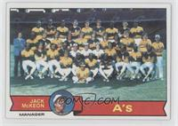 Oakland Athletics Team, Jack McKeon