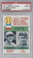 All-Time Record Holder Hits(George Sisler, Ty Cobb0 [PSA 9]