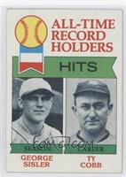 All-Time Record Holder Hits(George Sisler, Ty Cobb0
