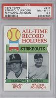 All-Time Record Holders Strikeouts (Nolan Ryan, Walter Johnson) [PSA 8.5]