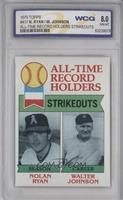 All-Time Record Holders Strikeouts (Nolan Ryan, Walter Johnson) [ENCASED]