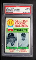All-Time Record Holders Strikeouts (Nolan Ryan, Walter Johnson) [PSA 9]