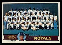 Kansas City Royals Team Checklist (Whitey Herzog) [NMMT]