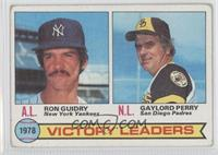 Ron Guidry, Gaylord Perry [Good to VG‑EX]