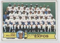 Dick Williams, Montreal Expos Team [Good to VG‑EX]