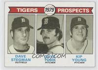 Tigers Prospects (Dave Stegman, Dave Tobik, Kip Young) [Good to VG&#8…