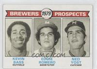 Brewers Prospects (Kevin Bass, Eddie Romero, Ned Yost)