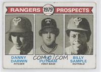 Rangers Prospects (Danny Darwin, Pat Putnam, Bill Sample) [GoodtoVG…