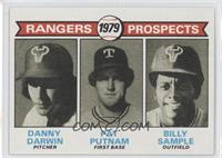 Rangers Prospects (Danny Darwin, Pat Putnam, Bill Sample)