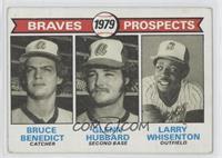 Bruce Benedict, Glenn Hubbard, Larry Whisenton [GoodtoVG‑EX]