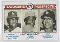Dodgers Prospects (Pedro Guerrero, Rudy Law, Joe Simpson)