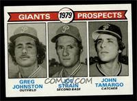 Giants Prospects (Greg Johnston, Joe Strain, John Tamargo) [NM]