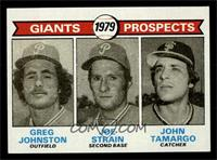 Giants Prospects (Greg Johnston, Joe Strain, John Tamargo) [NM MT]