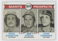 Giants Prospects (Greg Johnston, Joe Strain, John Tamargo)