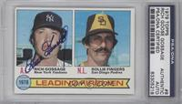Leading Firemen (Rich Gossage, Rollie Fingers) [PSA/DNA Certified Aut…