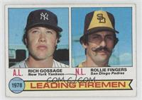 Leading Firemen (Rich Gossage, Rollie Fingers)