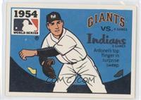 New York Giants vs. Cleveland Indians (Johnny Antonelli)