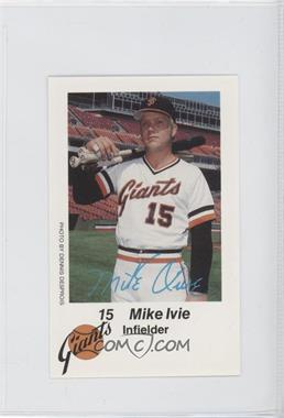 1980 KNBR San Francisco Giants San Francisco Police - [Base] #N/A - Mike Ivie