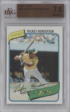 1980 Topps - [Base] #482 - Rickey Henderson [BVG7.5]