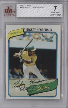 1980 Topps - [Base] #482 - Rickey Henderson [BVG7]