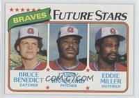 Atlanta Braves Future Stars (Bruce Benedict, Larry Bradford, Eddie Miller)