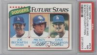 Joe Beckwith, Mickey Hatcher, Dave Patterson [PSA 7]