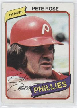 1980 Topps Burger King Restaurant Philadelphia Phillies #4 - Pete Rose