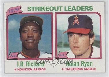 1980 Topps #206 - J.R. Richard, Nolan Ryan