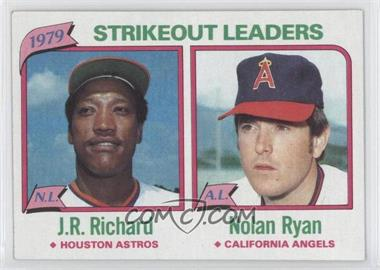 1980 Topps #206 - J.R. Richard, Nolan Ryan