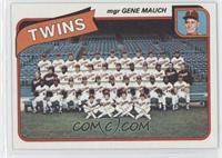 Minnesota Twins Team Checklist (mgr Gene Mauch)