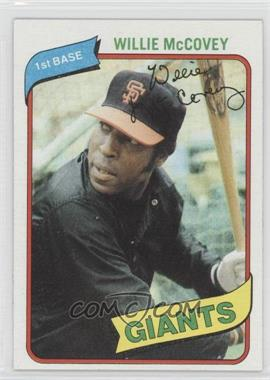 1980 Topps #335 - Willie McCovey