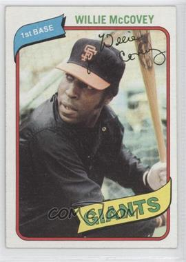 1980 Topps #335 - Willie McCovey