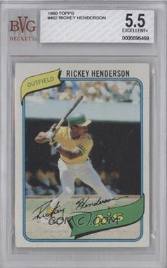1980 Topps #482 - Rickey Henderson [BVG5.5]