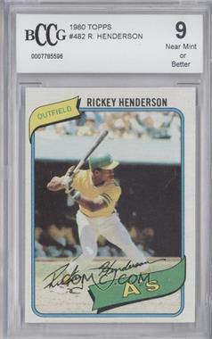 1980 Topps #482 - Rickey Henderson [ENCASED]