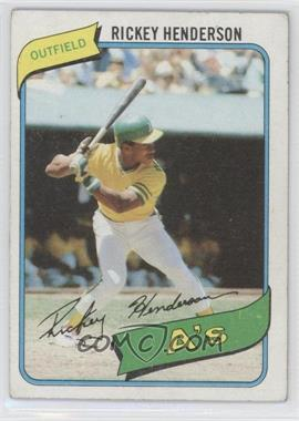 1980 Topps #482 - Rickey Henderson [Good to VG‑EX]