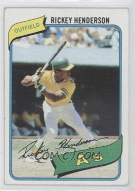 1980 Topps #482 - Rickey Henderson [GoodtoVG‑EX]