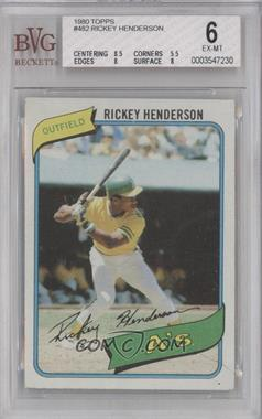 1980 Topps #482 - Rickey Henderson [BVG6]