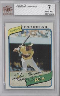 1980 Topps #482 - Rickey Henderson [BVG7]