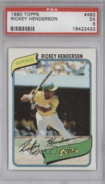 1980 Topps #482 - Rickey Henderson [PSA5]