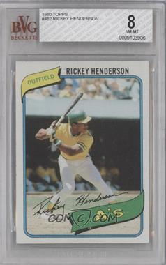 1980 Topps #482 - Rickey Henderson [BVG8]