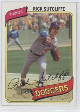 1980 Topps #544 - Rick Sutcliffe