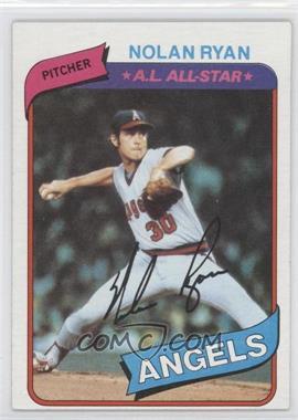 1980 Topps #580 - Nolan Ryan