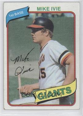 1980 Topps #62 - Mike Ivie