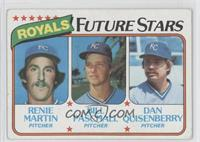 Renie Martin, Bill Paschall, Dan Quisenberry [Good to VG‑EX]