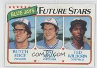 Blue Jays Future Stars (Butch Edge, Pat Kelly, Ted Wilborn)