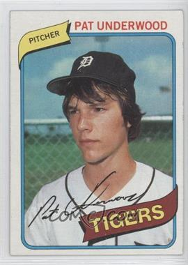 1980 Topps #709 - Pat Underwood [Good to VG‑EX]