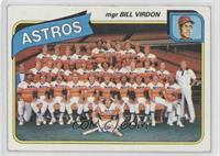 Houston Astros Team Checklist (mgr Bill Virdon)