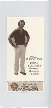 1980 Valley National Bank Phoenix Giants - [Base] #24 - Ethan Blackaby