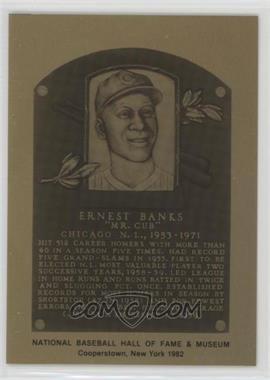 1981-89 Metallic Hall of Fame Plaques - [Base] #ERBA - Ernie Banks
