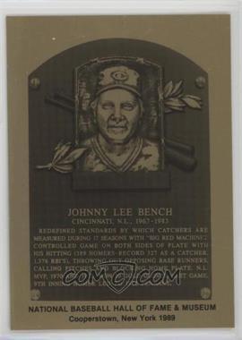 1981-89 Metallic Hall of Fame Plaques - [Base] #JOBE - Johnny Bench